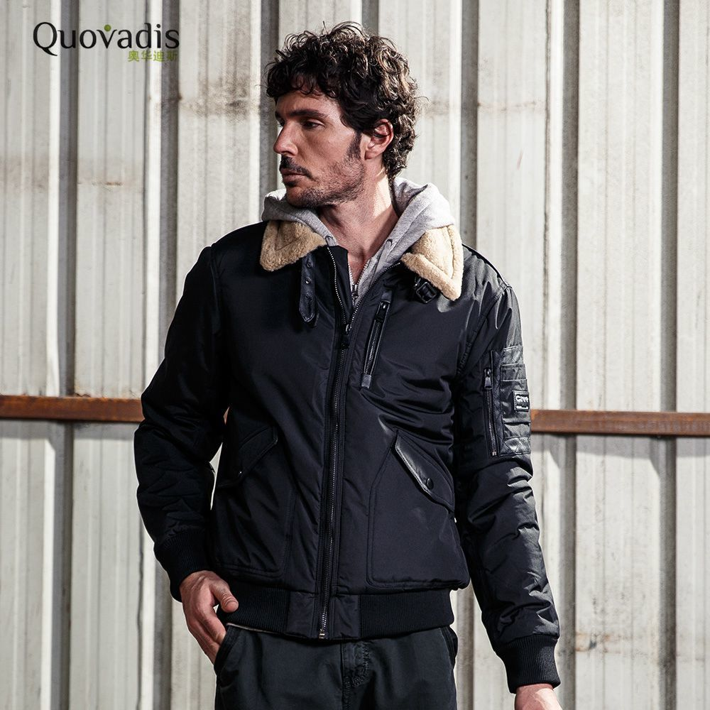 QUOVADIS New Man Short Cotton padded Cloth Winter jacket men parka hooded Fashion casual Loose brand Coat jaqueta masculino2529 viishow new winter jacket men warm cotton padded coat mens casual hooded jackets handsome parka outwear men jaqueta masculino