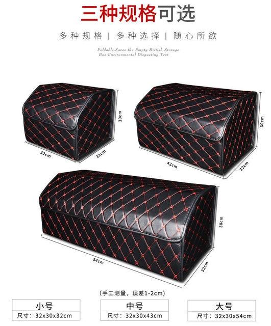 Car Trunk Organizer Box Storage Bag Auto Trash Tool Bag PU Leather Folding S/M/L Cargo Storage Stowing Tidying Car Accessories