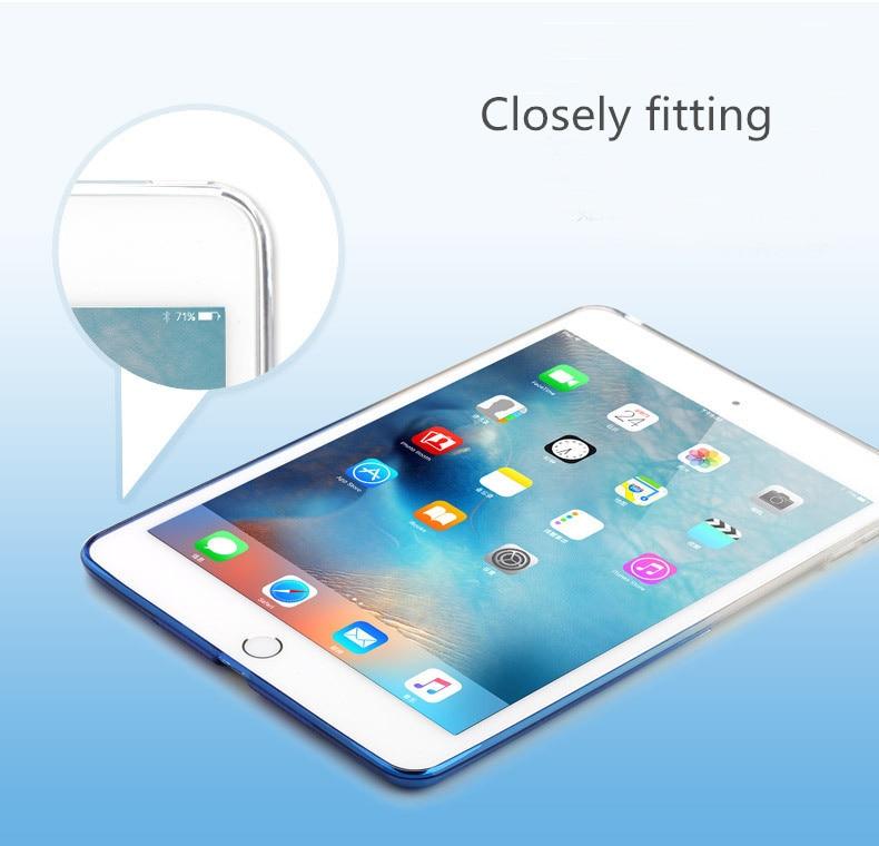 For Apple ipad mini 1 2 3 4 Silicon Soft TPU Gradient case cover Colorful Coque Tablets Tablet for iPad 2 3 4 mini2 mini3 mini4