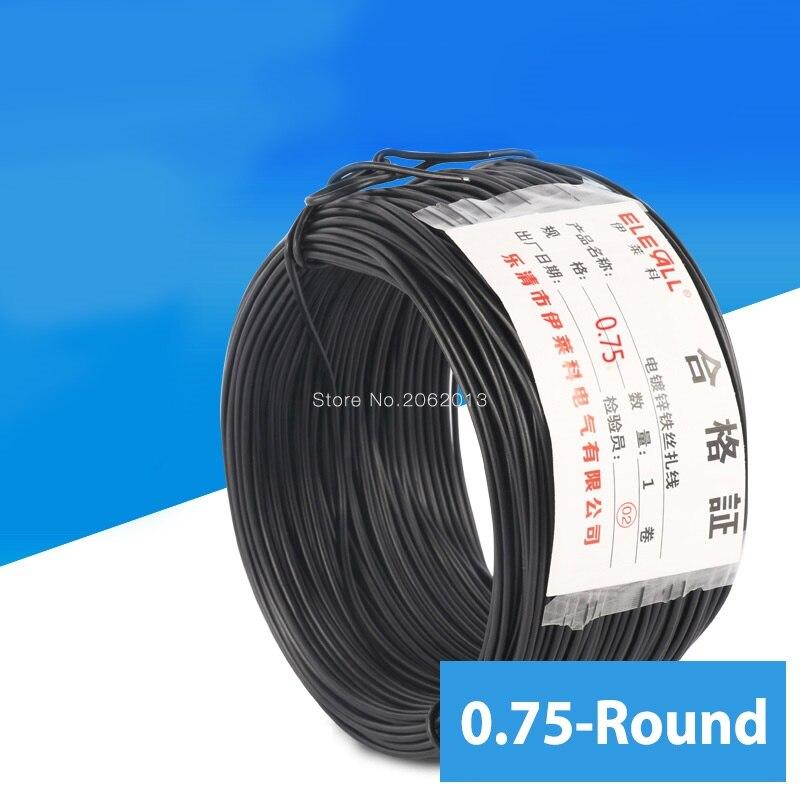 0.75mm Cable Tie Galvanized Wire Black Flate Shape Garden & Arrangement