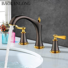 BAOLINLONG Plating Brass bathroom faucet bath tap set Mixer Vanity Vessel sink shower faucet water недорого