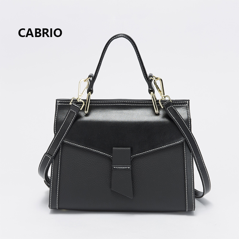 CABRIO Women Genuine Leather Handbags Small Crossbody bags England Style Female Hasp Flap Messenger Bags Patchwork Lady Bags cabrio casual women crossbody bags patchwork genuine leather flap small messenger bags for ladies women clutch bag metal button