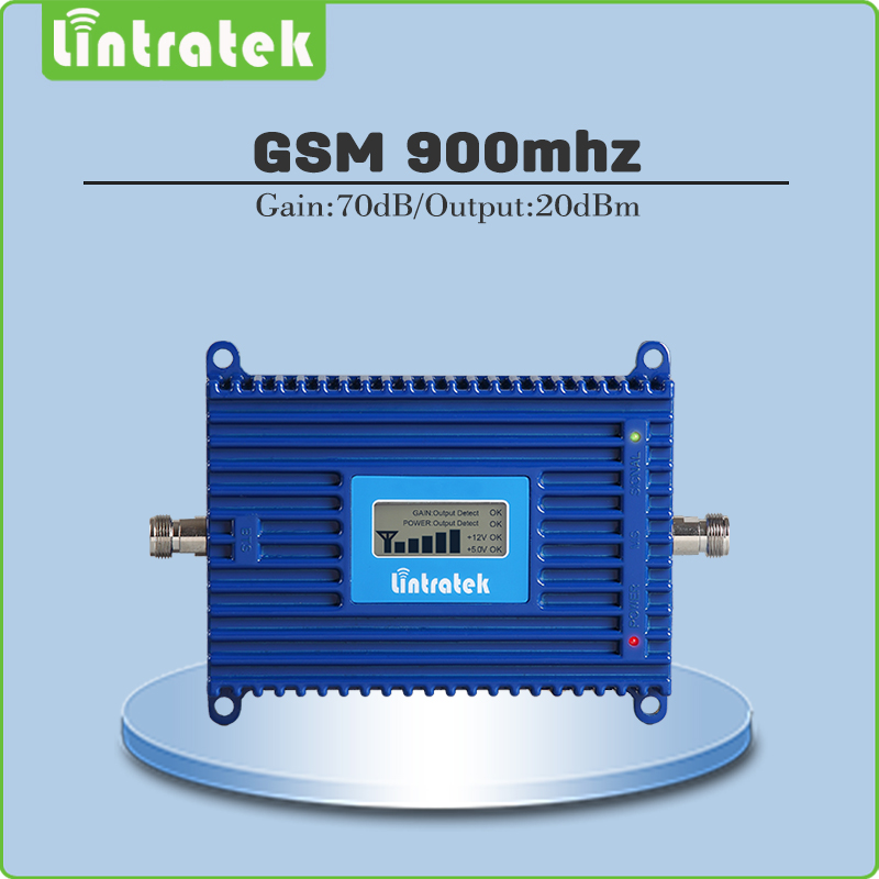 gsm repeater 900mhz repetidor de sinal celular Gain 70dB 2g mobile signal amplifier 900MHZ GSM signal booster with lcd display