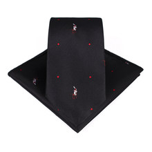Bridegroom Tuxedo Suit Imitated Silk Green Red Navy Blue Black Polka Dot Embroidery Pocket Square Towel Handkerchief 7CM Tie Set(China)