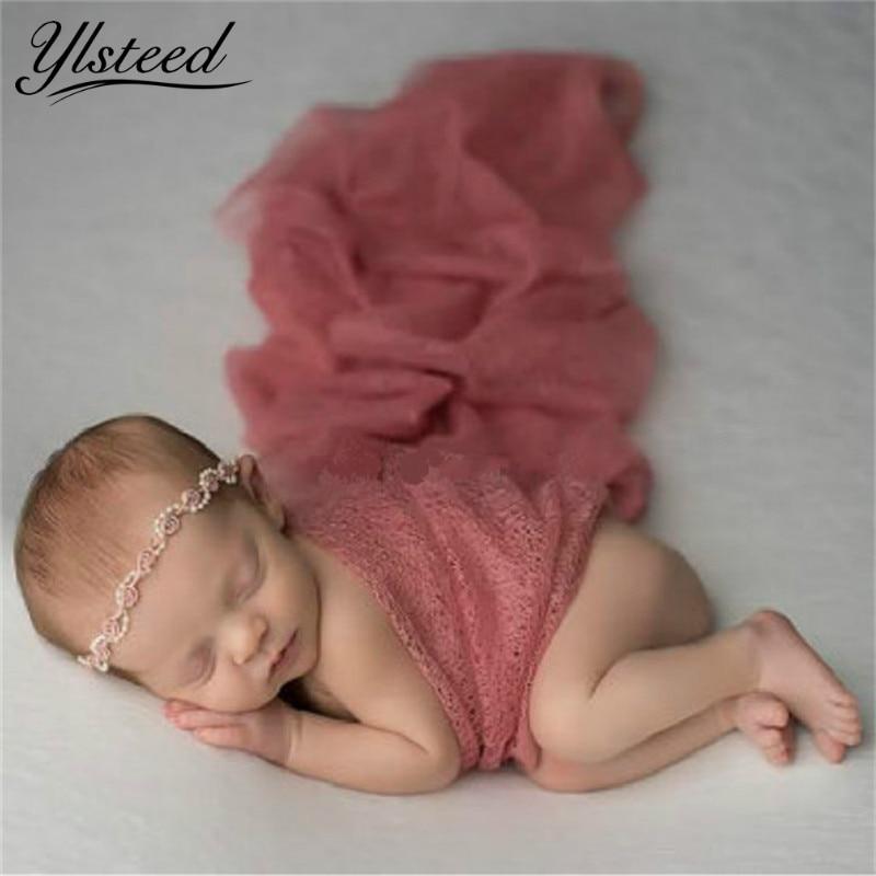 Studio Lighting Newborn Photography: Baby Photo Props Mesh Gauze Newborn Photography Wraps Baby