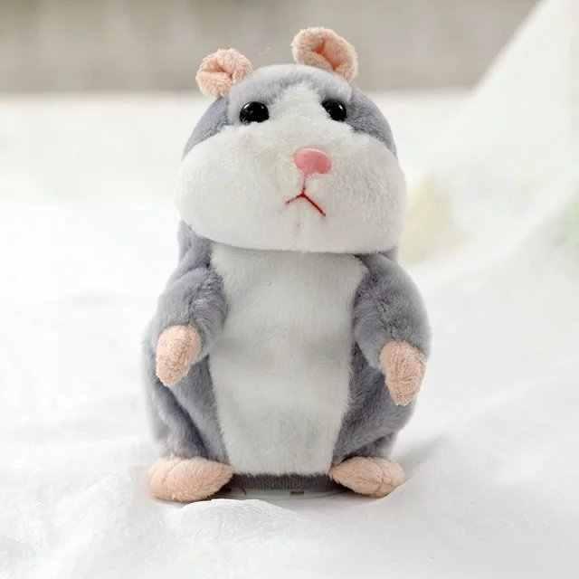 Kind Talking Hamster Elektronische Huisdier Knuffel Leuke Sound Record Hamster Educatief Speelgoed voor Kinderen Verjaardagscadeau voor Jongen en meisje