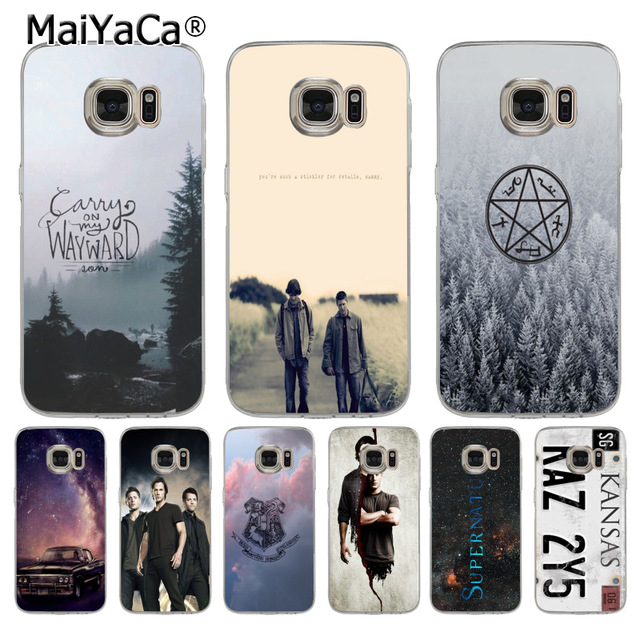 super popular 87dd2 5cec2 US $1.32 49% OFF|MaiYaCa TV Play Supernatural License Plate KANSAS KAZ 2Y5  phone case for samsung galaxy s7edge s6 edge plus s5 s8 s7 case-in ...