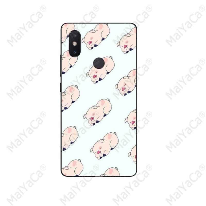 MaiYaCa dibujos animados Anime gravedad caídas cerdo patrón TPU suave teléfono funda para Xiaomi mi 8 SE 6 Note 3 mi X 2 2 S Note 3 cubierta