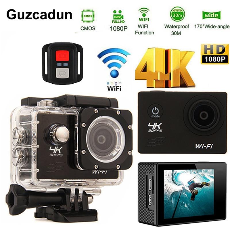 Caméra d'action Sport 4 K WIFI 2.0LCD 1080 P 60fps extérieur sous-marin étanche plongée surf vélo casque caméra Cam
