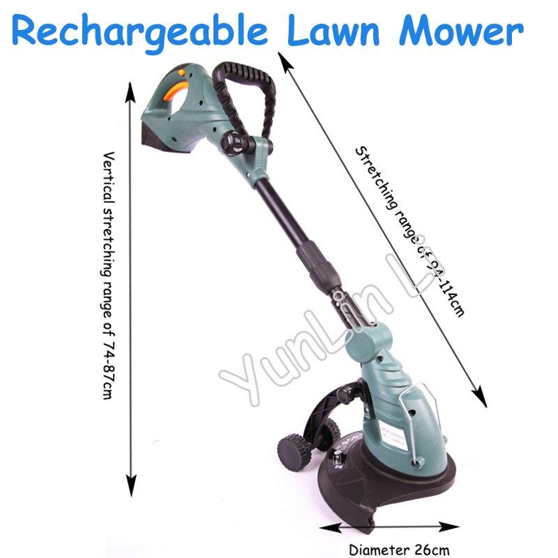 цена на Rechargeable Lawn Mower Electric Weeding Machine Portable Mower Adjustable Lawn Cutting Machine ET2803
