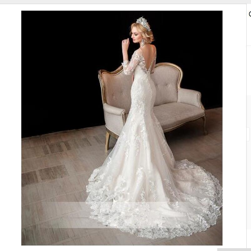 2017 Off Shoulder Luxury Vintage Long Sleeve Lace Wedding Gowns Mermaid Open Back Greek Style Bridal Dresses In From Weddings Events On