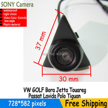 Sony Colorea CCD Vehículo insignia del coche de la marca Emblema Frontal cámara noche visión para VW GOLF Bora Jetta Passat Touareg Polo Lavida Tiguan