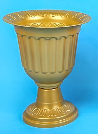 Wholesale Gold Plastic Trumpet Vase Round Base Pvc Roman Flower Pots