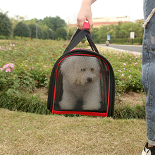 купить Travel Red Blue Bag Cage Out Portable Foldable Pet Suit for 10-15kg Pets Wholesale Dog Cat Handbag Breathable Oxford Mesh Pet по цене 1012.41 рублей