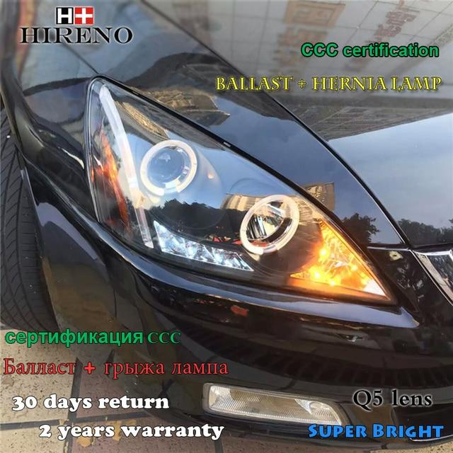 Hireno Headlamp For 2003 2007 Honda Accord Headlight Embly Led Drl Angel Lens Double Beam Hid Xenon 2pcs