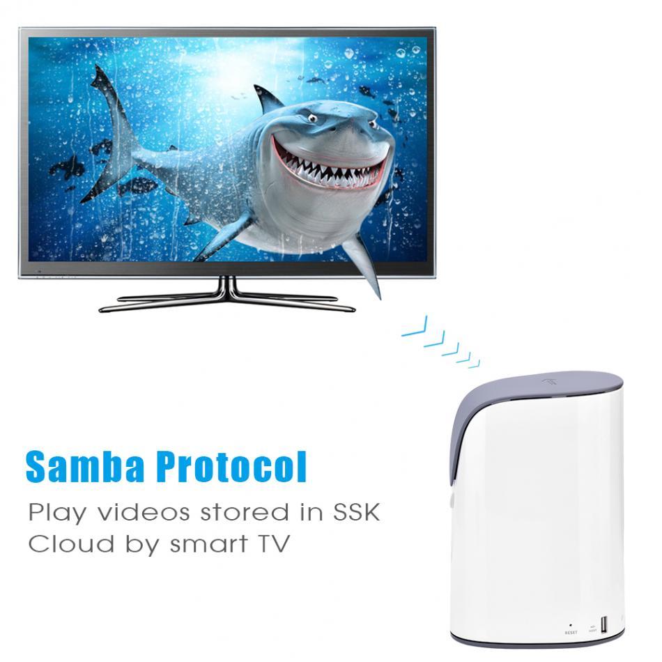 SSK 3.5 Inch 3TB Large Capacity Wireless WiFi External Hard Drive Smart Memory Cloud Storage