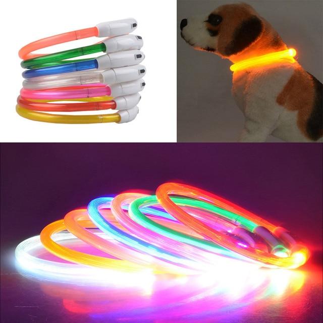 Impermeabile LED variopinto Pet Dog Collar 2018 USB Ricaricabile Impermeabile LE