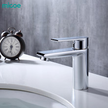 Micoe New Basin Faucet Basin Taps Bathroom Faucet Basin Sink Deck Mounted Basin Mixer Chrome Brass Bathroom Taps H-HC217(China)