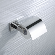 Toilet Paper Holder with Cover Wall Mount Paper Roll Holder SUS304 Stainless Steel Paper Roll Hanger Bathroom Paper Dispenser
