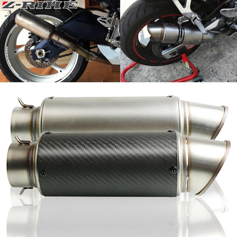 51 61mm Motorcycle Exhaust Pipe Muffler Carbon Fiber Exhaust Pipe For Suzuki GSXR GSX R 600