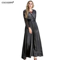 Women Lace Dress 7xl Big Size Long Dress Black Evening Sexy Party Dress Vintage Maxi Dress 5XL 6XL Plus Size Women Clothing 2019
