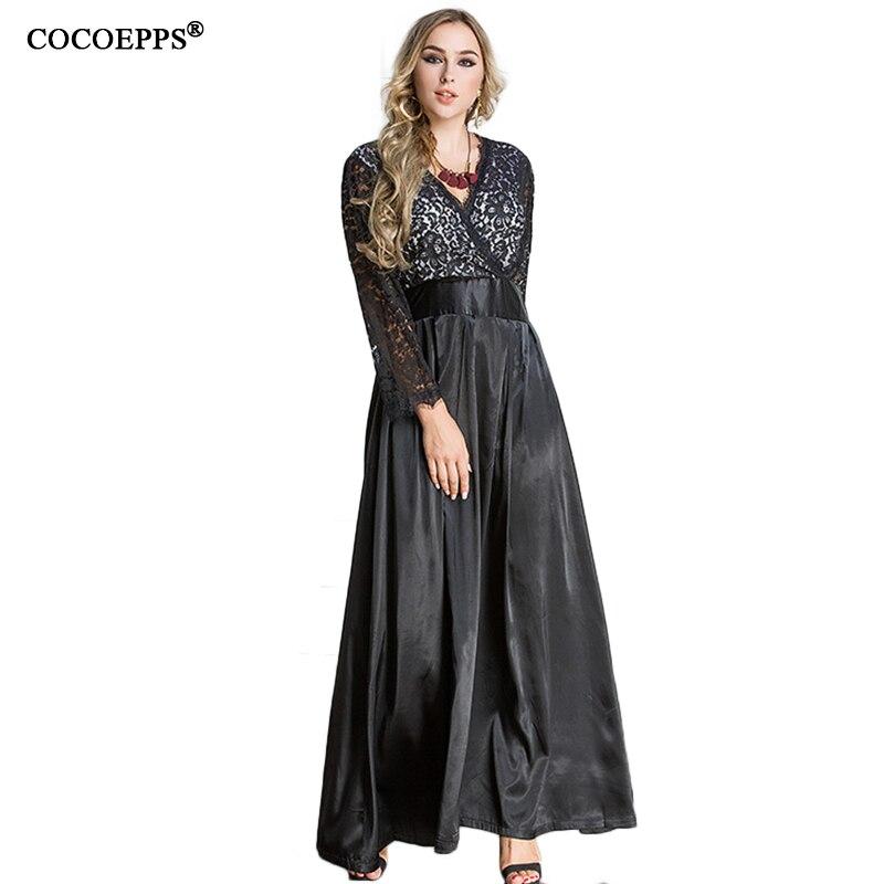 Fall Maxi Dresses Plus Size Women