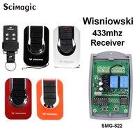 4GO 433.92 MHz Keeloq Wisniowski remote receiver 2 channel Gate Garage Door remote control receiver
