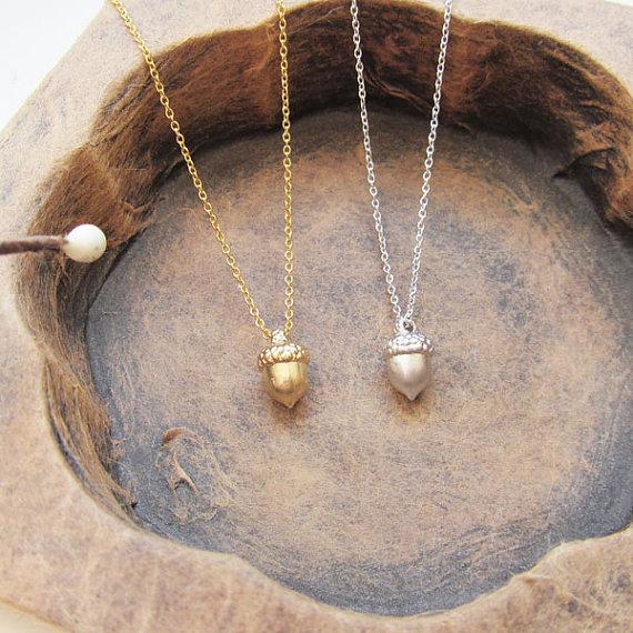 Миниатюрное конические гайки из сосны, ожерелье с тремя размерами, ожерелье Еловая шишка, маленькие желуди, ожерелья с белками, ожерелье для...