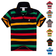 High Quality Breathable Kids Boys Polo Shirt Children Clothes Short Sleeve Cotton Summer Brand Girls Tops