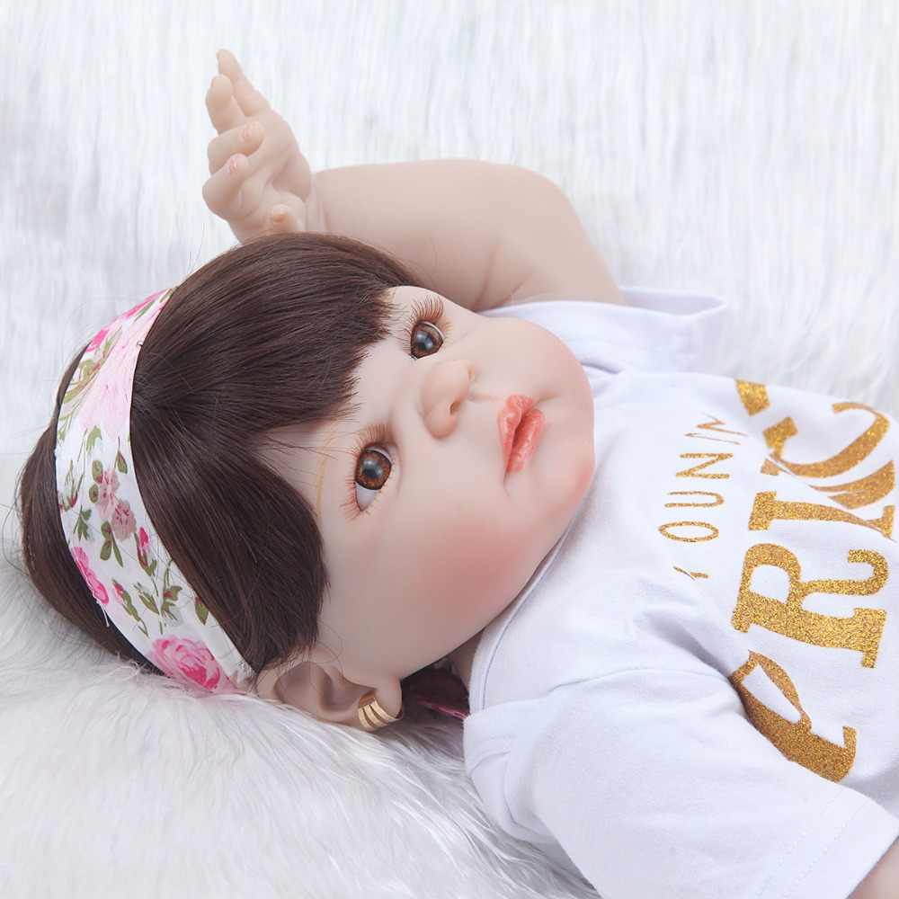Muñeca de silicona de cuerpo completo reborn juguetes de 22 pulgadas realista bebé reborn muñecas juguetes bonecas reborn brinquedo menina