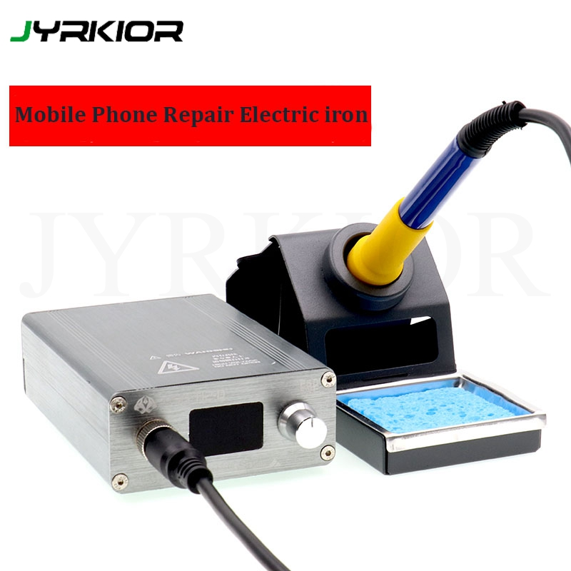 Jyrkior T12-D Adjustable Temperature Electric Soldering Iron For Mobile Phone Flying Line Electronic Repair Welding Tools