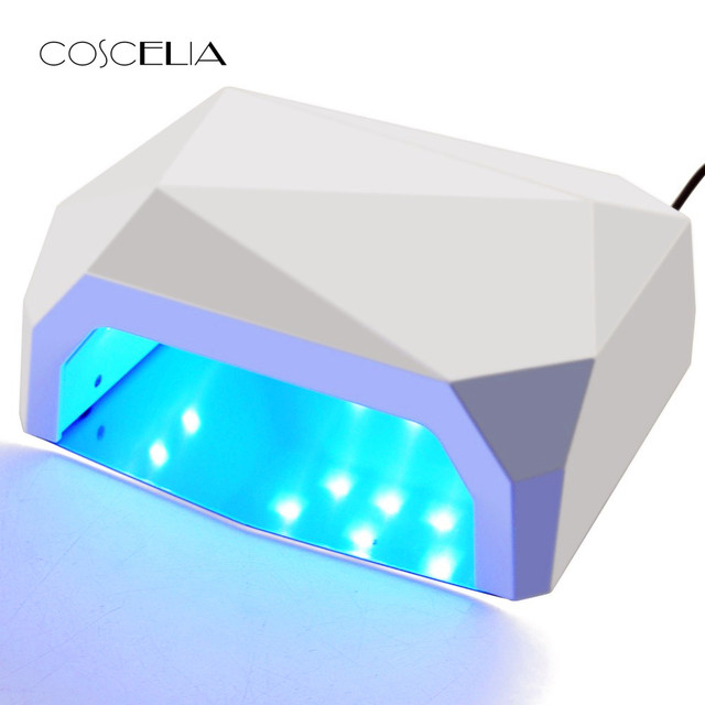 36 W UV מנורת Led 3 צבע יהלומים בצורת 15 Pcs חרוזים מנורת UV נייל מנורת ריפוי עבור UV LED ג 'ל לק ציפורניים אמנות כלים
