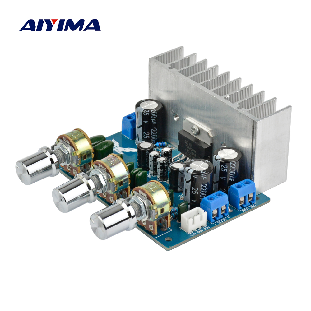 Aiyima TDA2009A Amplifier Board 2.0 Channel 12Wx2 Audio Amplifiers Board Amplifier Audio Board with tuning DC 8-28V 4 1 channel lm4780 amplifier finished board ac 24v 28v 4x68w 130w subwoofer