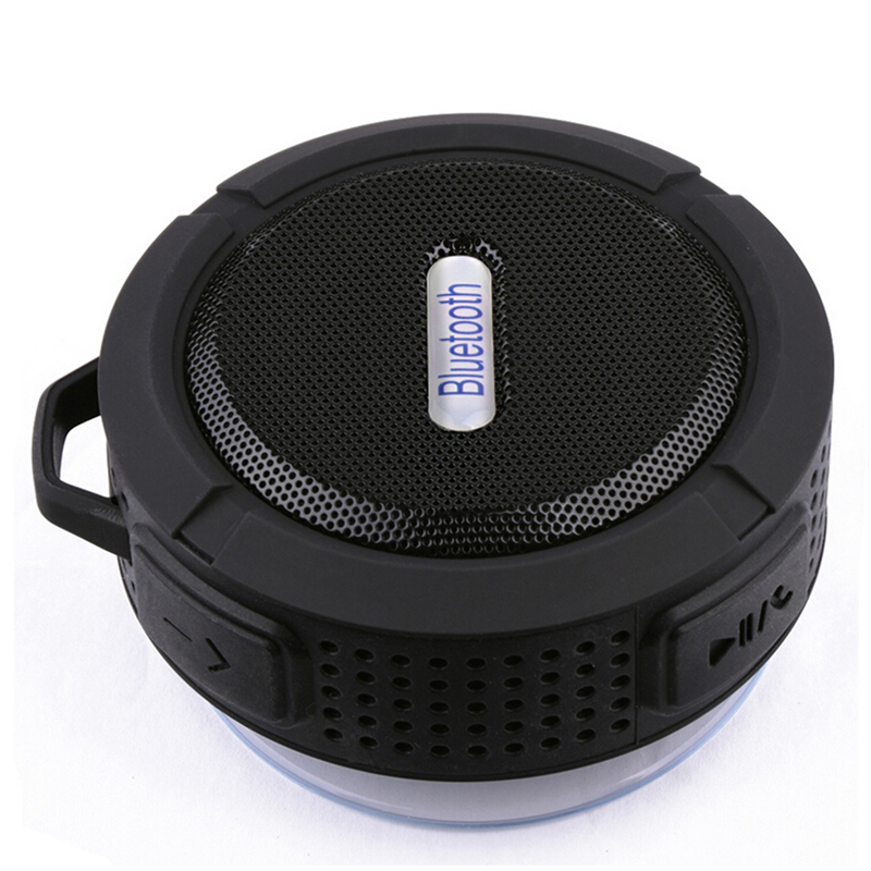 C6 Bluetooth Speaker Portable Suction Cup Stereo Fashion Wireless Waterproof Hook up Handsfree Mini Audio Speaker with Mic original lker bluetooth speaker wireless stereo mini portable mp3 player audio support handsfree aux in