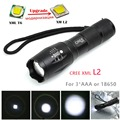 CREE T6 upgrade-XML-L2 Flashlight LED Torch Zoomable LED Flashlight Bike Bicycle Light for 3 x AAA or 1x18650 Battery