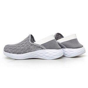 Image 3 - STQ 2020 סתיו נשים סניקרס נעלי רשת לנשימה Tenis Feminino להחליק על גבירותיי מקרית דירות סניקרס נעלי אישה 1869