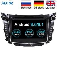 Android 8.0 4GB RAM Car DVD player GPS Navigation Headunit For Hyundai I30 Elantra GT 2012 2013 2014 2015 2016 Auto multimedia