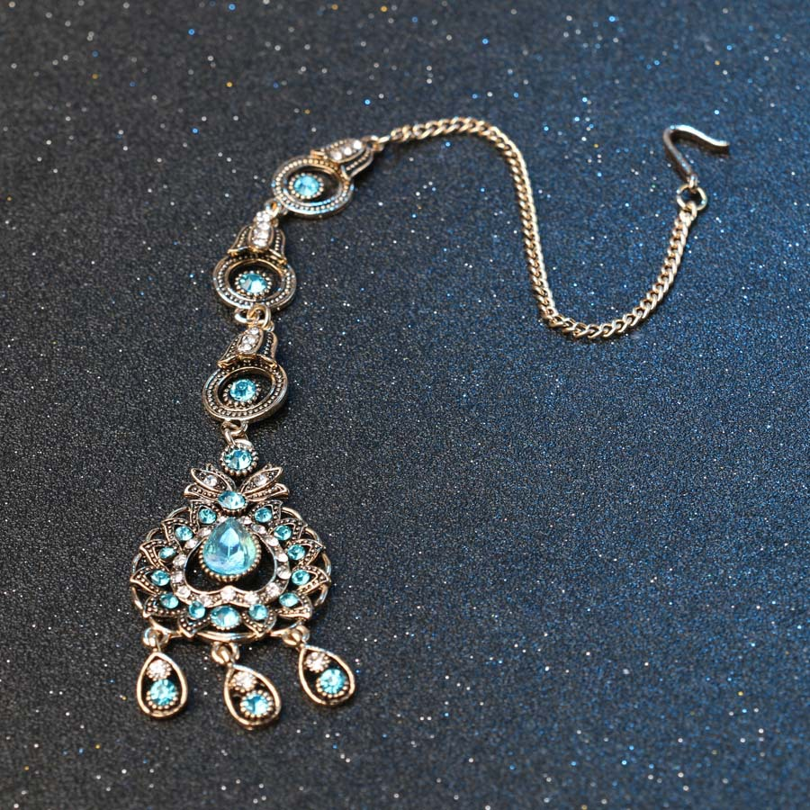 Charm India Vintage Look Set Perhiasan Liontin Kalung Anting-anting - Perhiasan fesyen - Foto 4