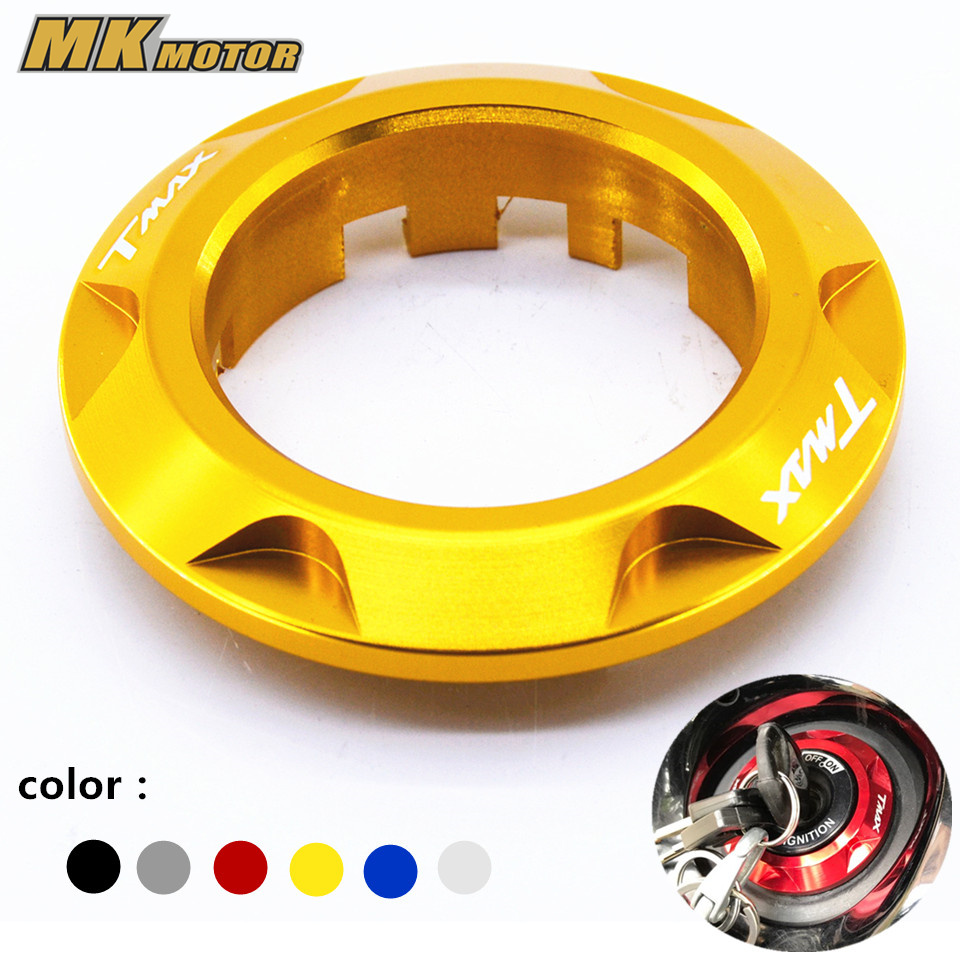 Gold Motorcycle For Yamaha Tmax T-MAX 530 2013-2015 Accessories CNC Aluminum Ignition Switch Cover with logo cnc aluminum motorcycle rear passenger foot pegs pedals footrests for yamaha tmax 500 tmax 530 t max500 t max530 t max mt07 mt09