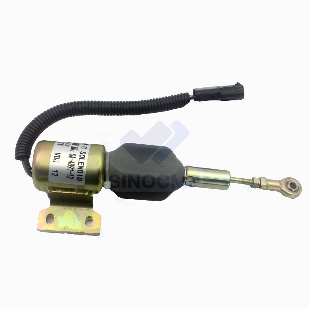 24V Fuel Shut Off Solenoid SA-4756-24 SA-4891-24 for R220-5 R210-3 Hyundai Excavator, 3 month warranty24V Fuel Shut Off Solenoid SA-4756-24 SA-4891-24 for R220-5 R210-3 Hyundai Excavator, 3 month warranty