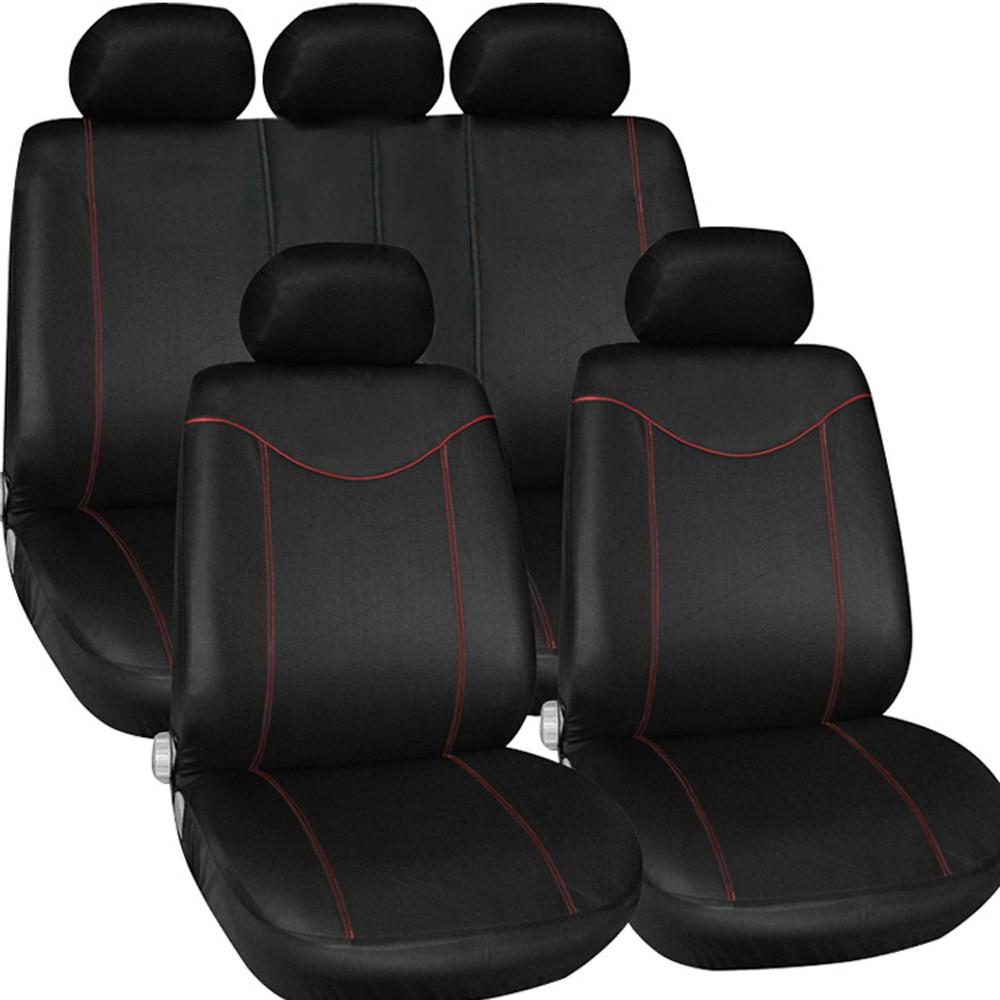 Auto Innen Zubehör Auto Sitzbezüge Styling Universal Car Seat Protector Kissen 9 teile/satz für kia ceed bmw e46 sitz ibiza