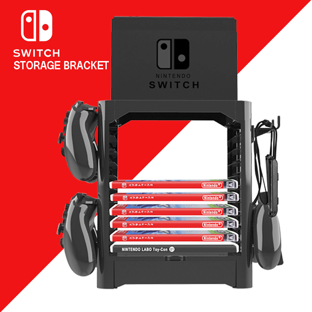 Nintend Switch NS Accessories Game Disc Storage Bracket Holder Tower for Nintendo Switch Joystick Carrying Stand  4
