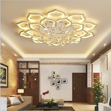 Modern crystal led Ceiliing chandelier lights For Living Room Bedroom Home LED Chandelier ceiling Fixtures free shipping