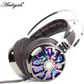 Aaliyah Hot  7.1 Surround Sound Headphone Vibration Computer Gaming Headset Earphone Headband With Mic For PC LOL Game