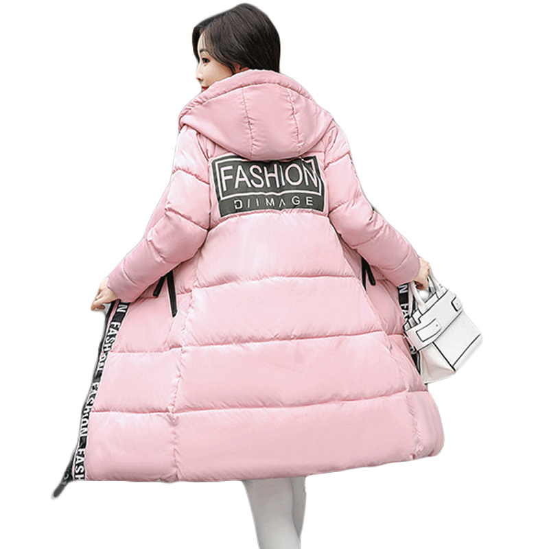 High Quality 2017 Female Long Slim Down Cotton Padded Coat Parkas Women Thicken Warm Hooded Winter Jackets Plus Size 4XL CM1448 2014 female new fashion waist thicken over knee parkas female long slim down jackets winter coat