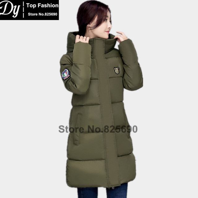 New WarmingWinter Jackets For Women Fashion Down Cotton Parka Women's Winter Jacket Coat Female Water High Collar Hooded Jacket