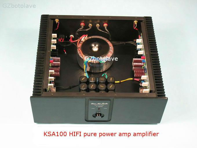 Finished KSA100 HIFI pure power amp amplifier single transformer class AB 200W+200W krell ksa100 c5200 a1943 260w 2 class ab power amplifier board