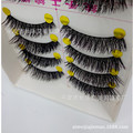10 pairs Estilo Corto Gruesas Pestañas Falsas Hechas A Mano Fake Lashes Mascara Maquillaje Cosmético Belleza Herramienta Reutilizable para el Club Del Partido