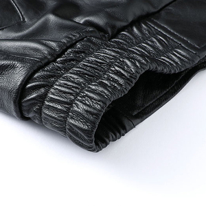 Image 5 - ผู้ชายอิตาลีของแท้หนังรถจักรยานยนต์ BIKER JACKET ยี่ห้อคุณภาพสูง Sheepskin หนังแท้แจ็คเก็ตเที่ยวบินสีดำ Slim Coat