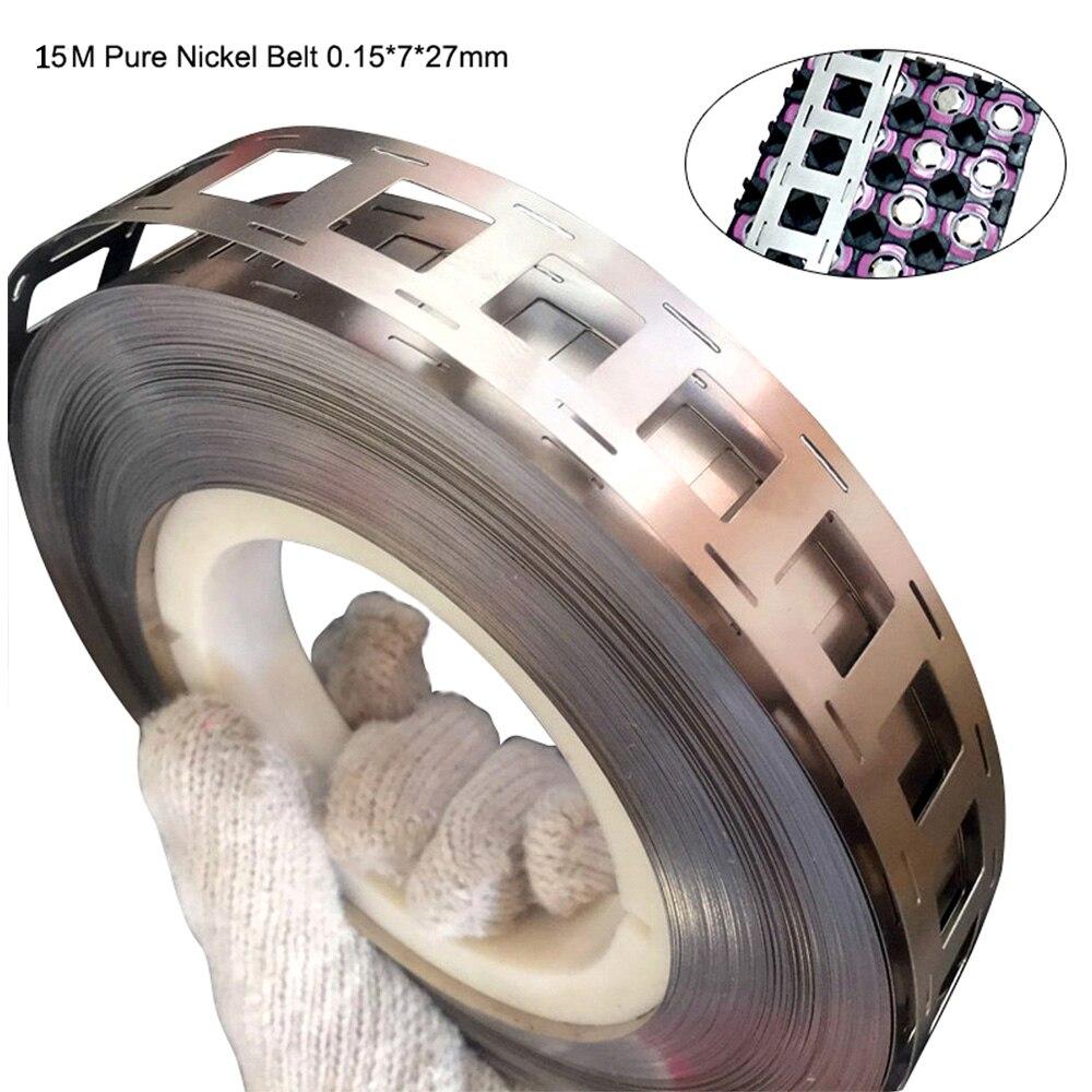 15M pure nickel belt 0.15* 7*27mm purity 99.68% nickel strip for battery spot welding machine welding equipment welding Nickel  15M pure nickel belt 0.15* 7*27mm purity 99.68% nickel strip for battery spot welding machine welding equipment welding Nickel